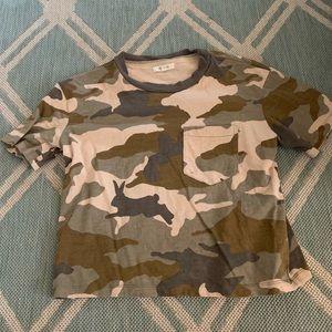 Madewell camo T-shirt size small